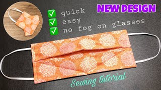 New design Very quick easy 3D face mask sewing tutorial How to make an easy face mask pattern