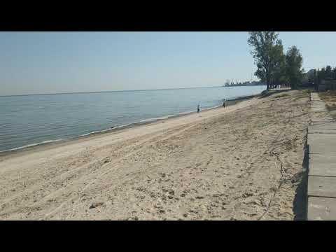 Пляж Азовского моря в Таганроге