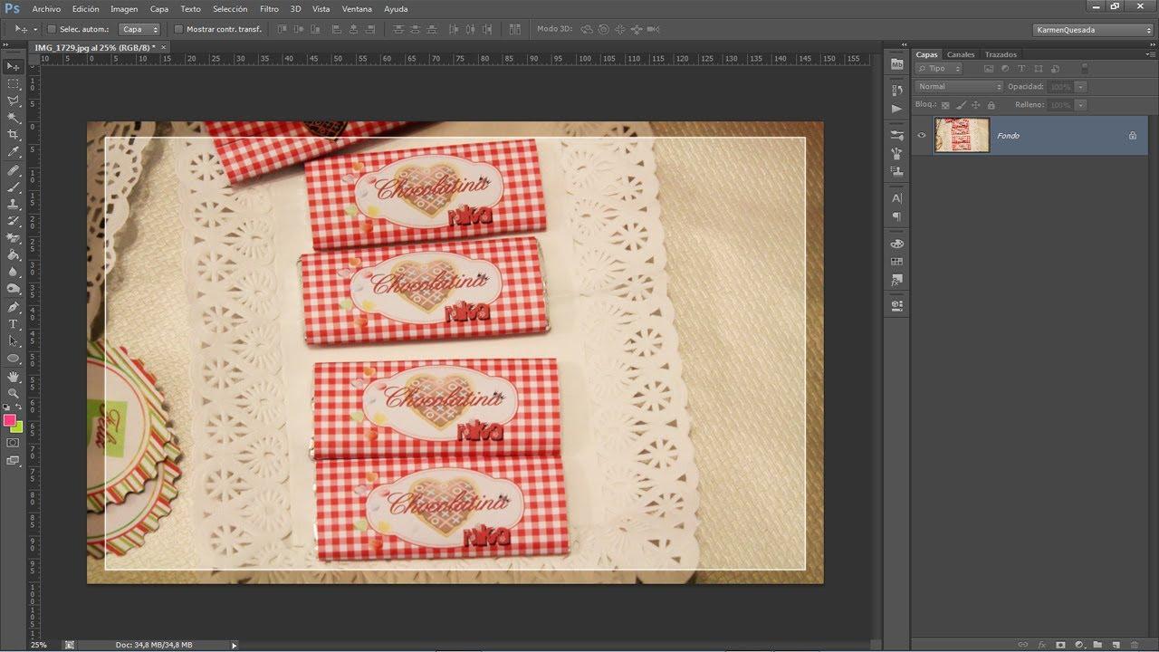 Tutorial Photoshop: Diseñando etiquetas para chocolatinas ...