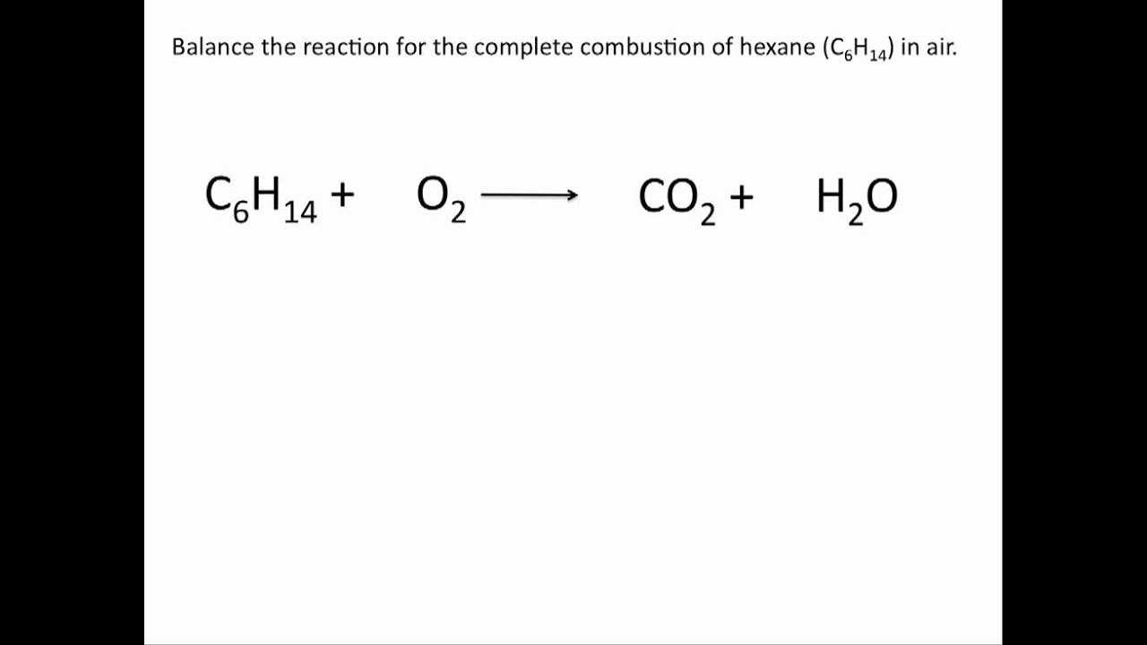 write and balance equations for the following reactions