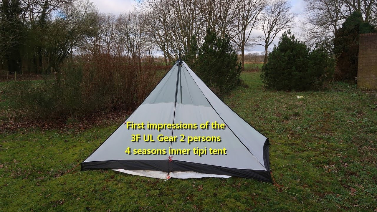 the best attitude f931c ae9aa First impression: 3F UL Gear 2p inner tipi tent for my Hexpeak V4a