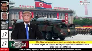 Donald Trump ahora advierte a Corea del Norte y China