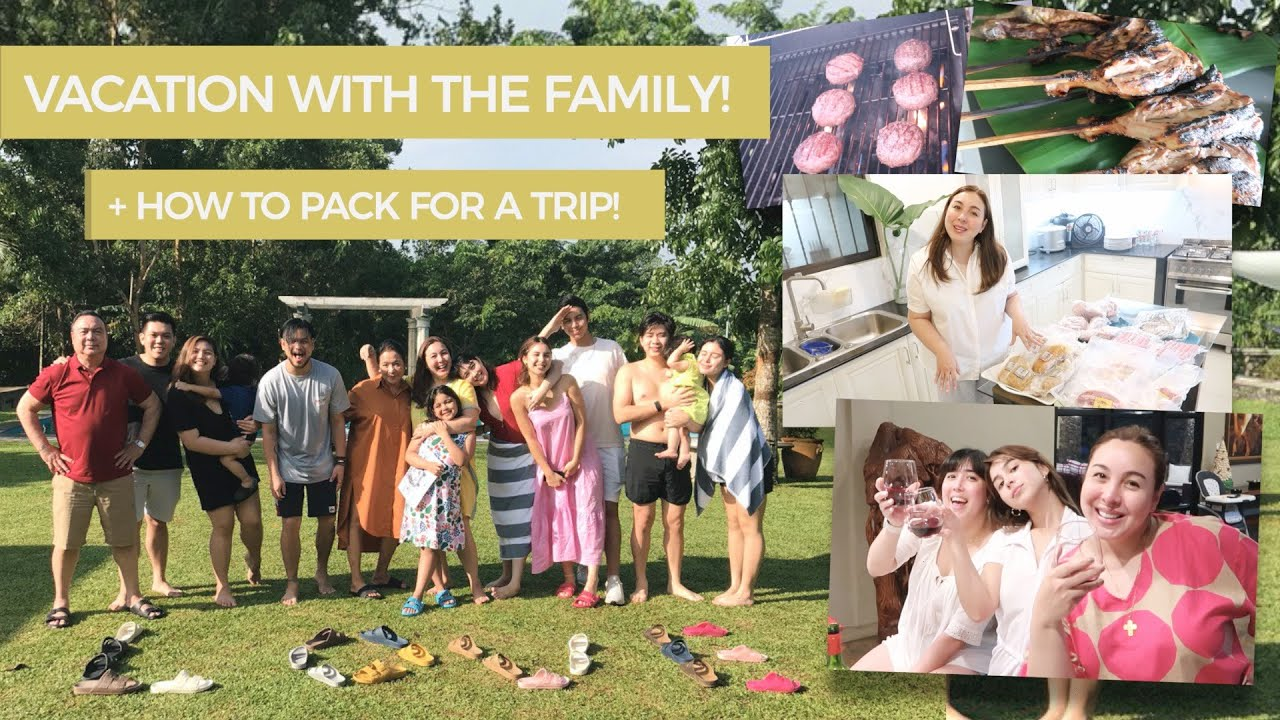 VACATION WITH THE FAMILY + HOW TO PACK FOR A TRIP! | Marjorie Barretto