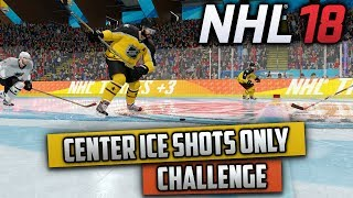 Can I Win a Game Only Shooting from Center Ice? (NHL 18 Challenge)