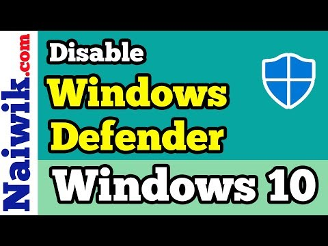 How To Disable Or Enable Windows Defender Security Center In Windows 10