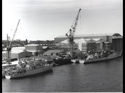 1971 Launch of HMS Amazon at Vosper Thornycroft Woolston Southampton by HRH Princess Anne