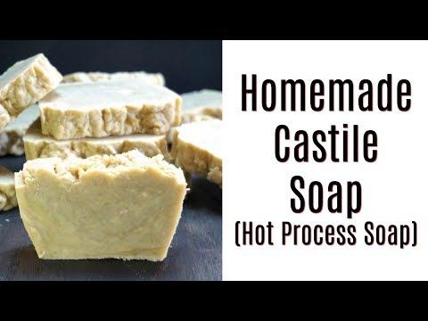 Homemade Castile Soap   Hot Process Castile Soap   Easy Soap for Beginners