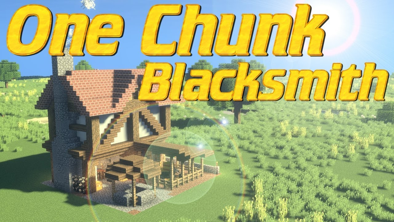 Minecraft - One Chunk Build Tutorial | How to Make a Blacksmith in  Minecraft | Tudor House Smithy