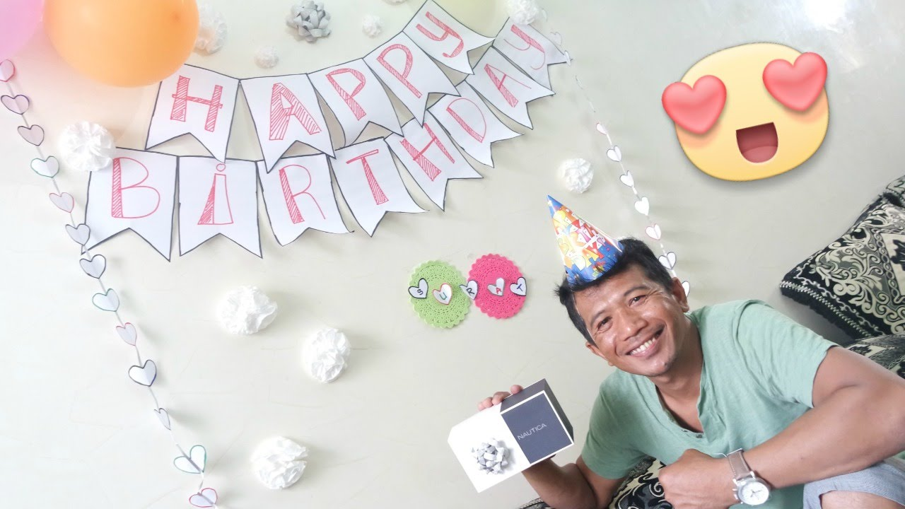 Surprise Husband\'s Birthday - DIY Simple Decorations - YouTube