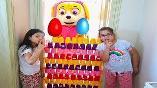 Kids Pretend Play With Colored Cups and Surprise Eggs with Toys, fun kids