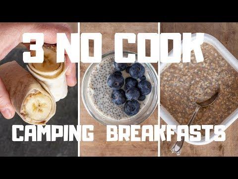3 no cook camping breakfasts One Pot Campervan Recipes