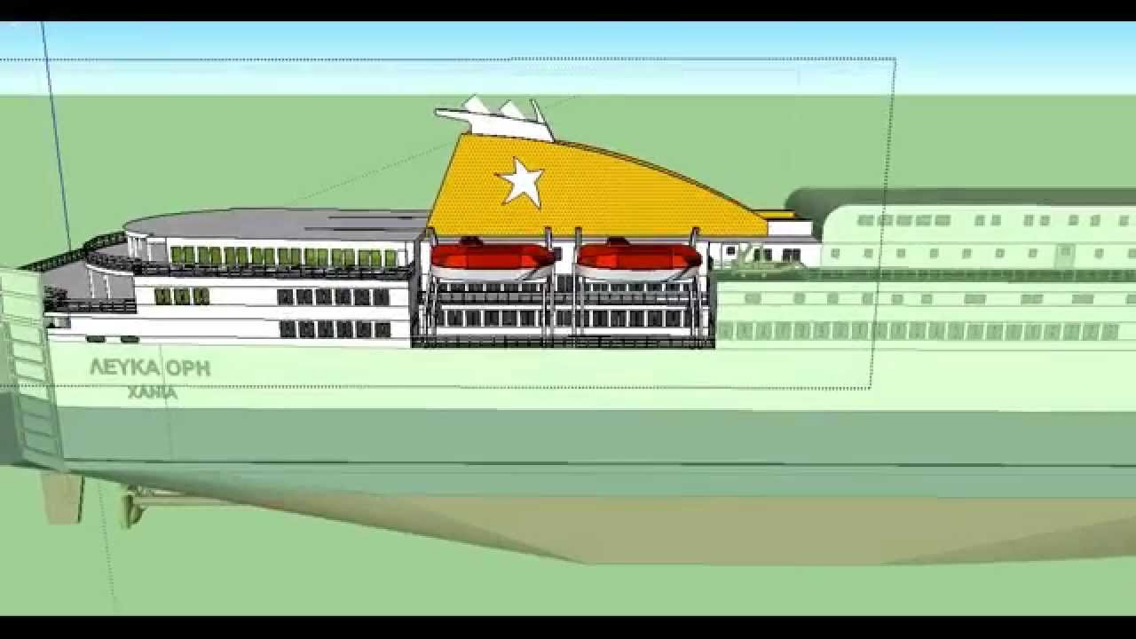 Converting a ferry in sketchup for Google sketchup converter