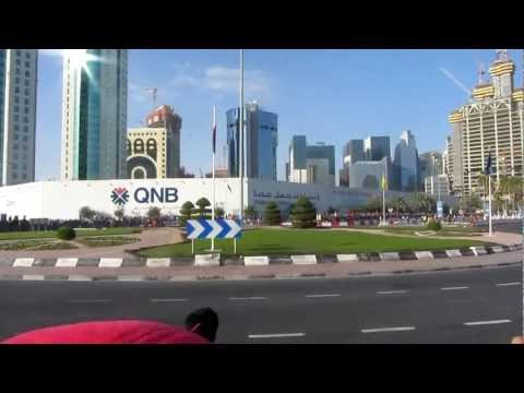 Ferrari Formula 1 car in Qatar taking a roundabout just like any other car
