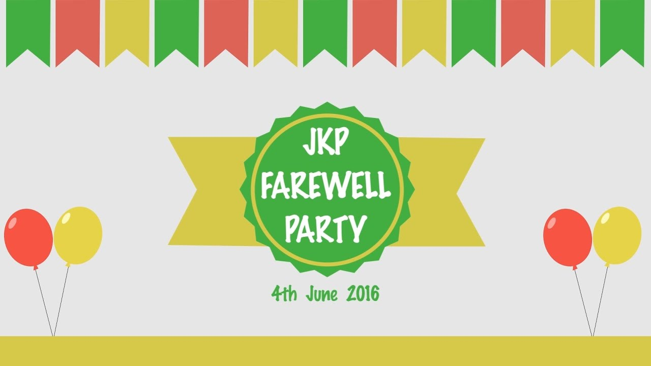 farewell party If your property is for sale and it hasn't sold yet, have your farewell party there nice and early, maybe a month to two weeks before you leave invite as many people as you.
