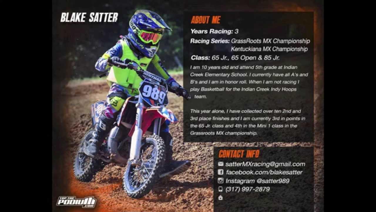 motocross resume example