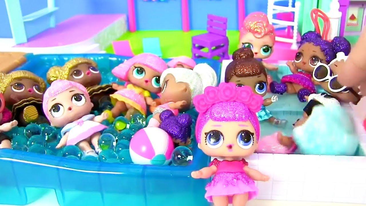 Шопкинс и Куклы Лол Сюрприз летят на вечеринку к Боссу ...