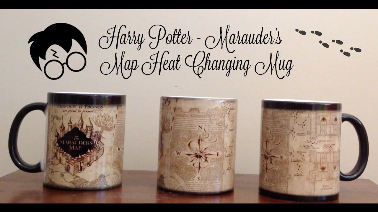 ad5e82d8922 Harry Potter - Marauder's Map Heat Changing Mug - YouTube
