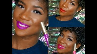 Stila Stay All Day Liquid Lipstick New Summer Collection 2015 on NC50 Skin
