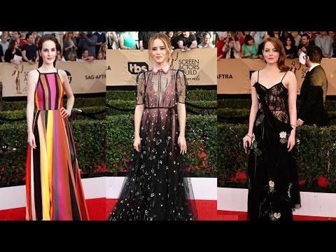 10 Best Dressed Celebrities At SAG Awards 2017 || Pastimers