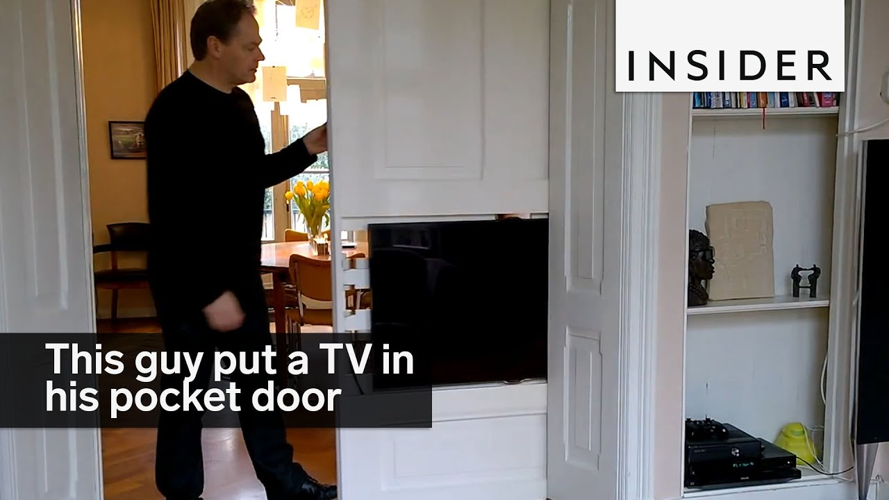 This Guy Put A TV In His Pocket Door   YouTube