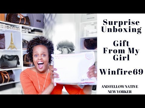 Surprise Unboxing|  From My Girl, Fellow YTuber & Native New Yorker Winfire 69