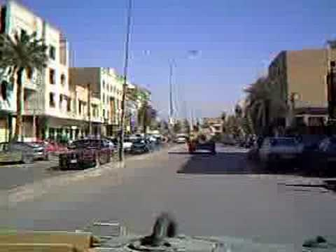 Cruising downtown Baghdad Iraq