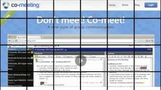 co-meeting -Text Based Realtime Group Discussion-