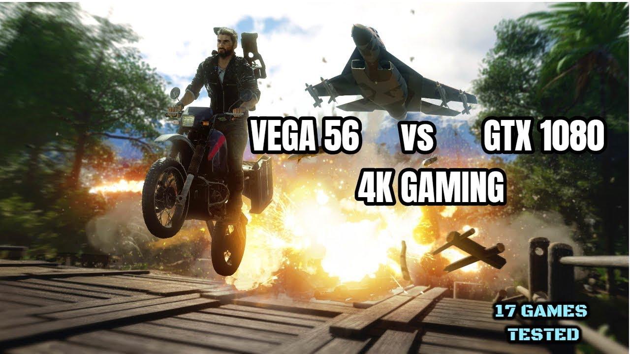 GTX 1080 vs Vega 56 Test in 17 Games 4K (2019)