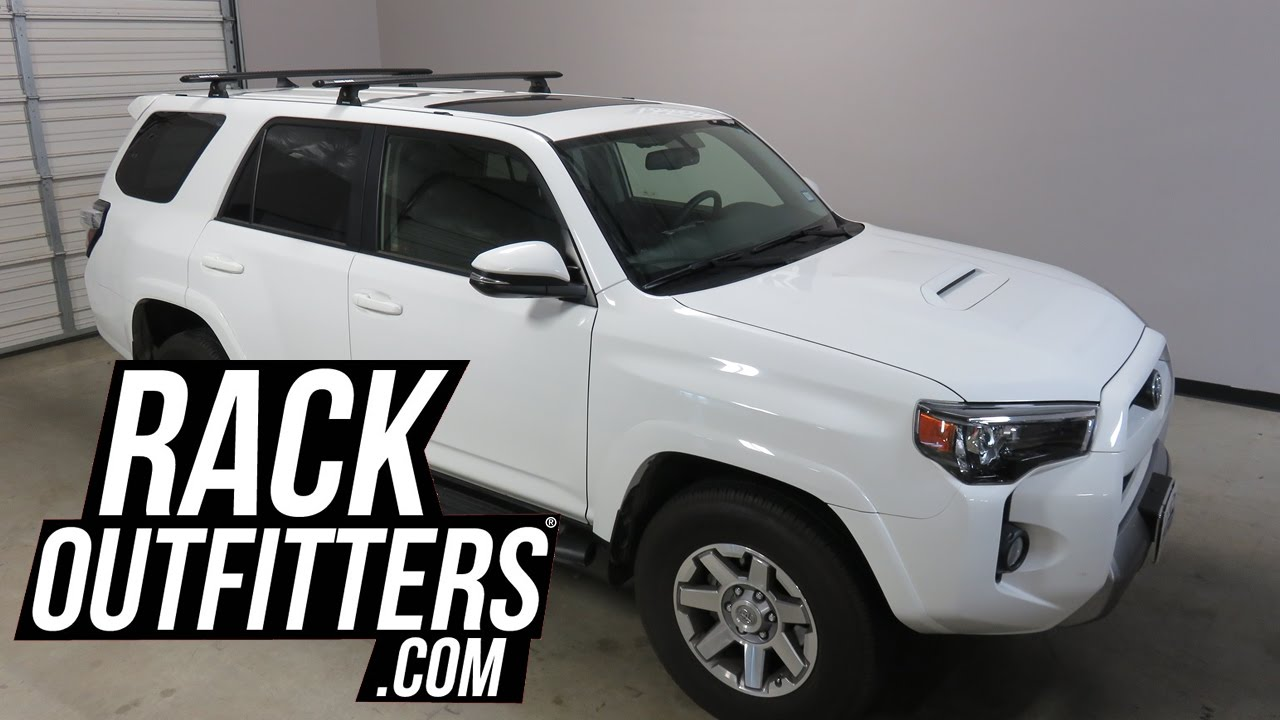 Bike Rack For Jeep Renegade >> Toyota 4Runner with Rhino-Rack Tracks and Quick Mount Vortex Base Roof Rack - YouTube