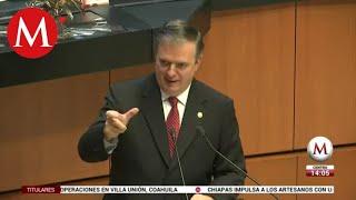 Marcelo Ebrard comparece en Senado; 'no hay sorpresas en T-MEC', dice