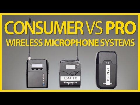 Consumer vs Pro Wireless Microphone Systems