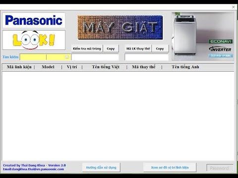 Hướng dẫn sử dụng phần mềm tra cứu linh kiện Máy giặt Panasonic