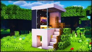 Minecraft Smallest Modern House: How to build a Cool Modern House Tutorial