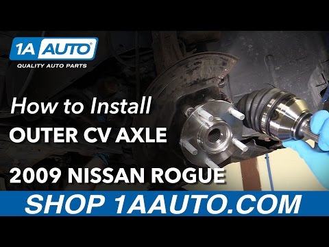 How to Install Replace Front Outer CV Axle Shaft 2009 Nissan Rogue
