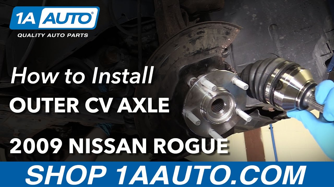 How to Replace Front Outer CV Axle Shaft 07-13 Nissan Rogue