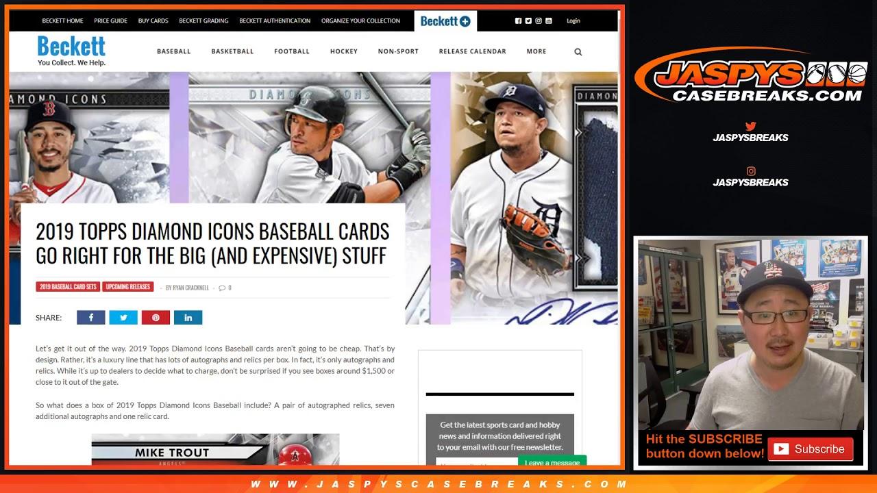 Preview 2019 Topps Diamond Icons Baseball Mlb