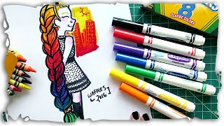 Throwing back to my old days of drawing with Crayola Markers. I've come a long way in the last ten years when it comes to art supplies. I'll keep my ...