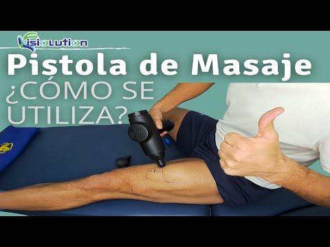 PISTOLA de MASAJE o MASSAGE GUN - TUTORIAL MASAJE MUSCULAR Fisioterapia | Fisiolution