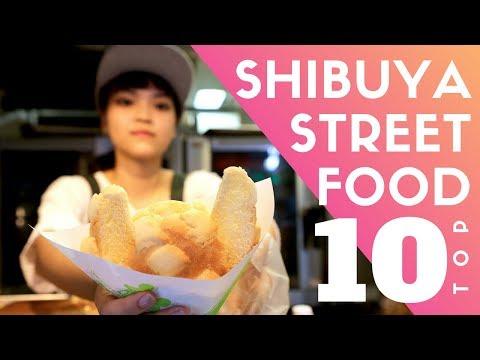 Tokyo Street Food Shibuya Top 10 | World's 2ND Best Melon Pan Ice Cream