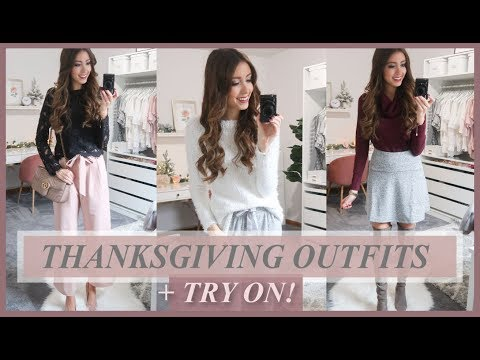 12 THANKSGIVING OUTFIT IDEAS 2018 | CASUAL + DRESSY!