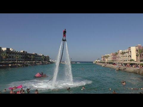 Отдых в Египте. Флайборд шоу на воде в отеле Sunny Days El Palacio. Катание на Флайборд