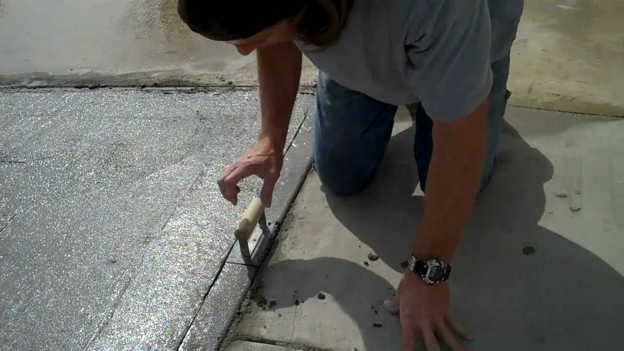 Pouring and finishing a concrete slab youtube for Concrete advice