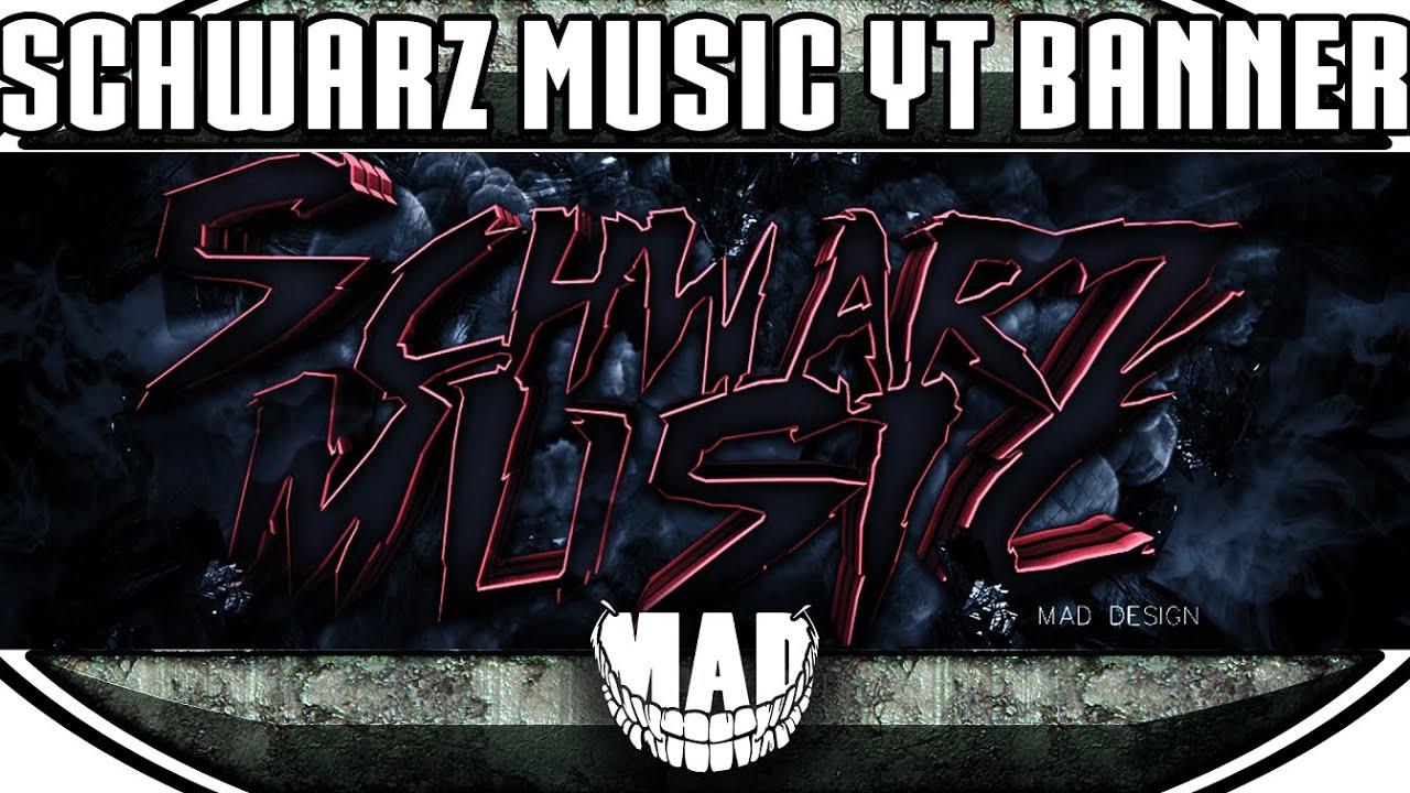 Speedart Schwarz Music Youtube Banner Mad Youtube