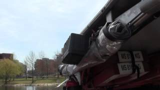 Duck boat tour on Charles river in Boston