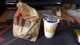 버거킹 스태커2 햄버거세트 먹방