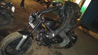 Modified pulsar 220 into cafe racer.