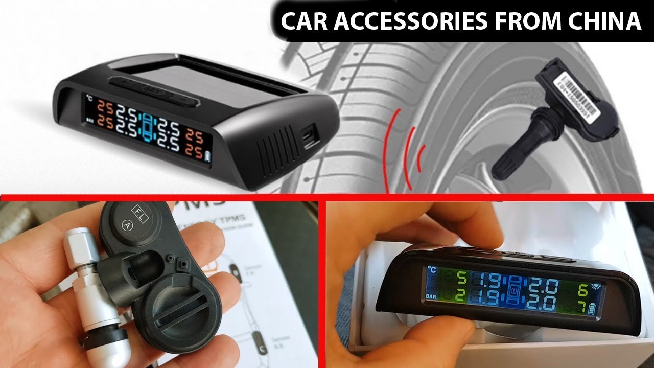 VETOMILE Tyre Pressure Monitoring System Wireless Solar Powered TPMS with 4 External Sensors Real Time Monitoring LCD display Pressure and Temperature Gauge