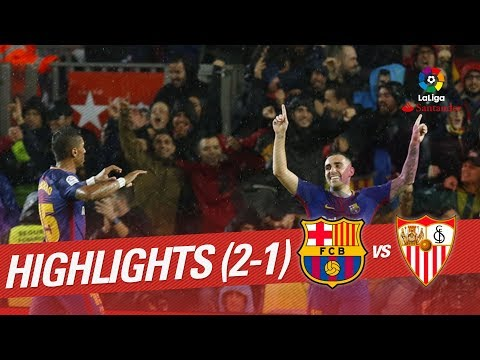 Resumen de FC Barcelona vs Sevilla FC (2-1)