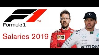 F1 Driver Salary  Revealed 2019 - Updated Salaries