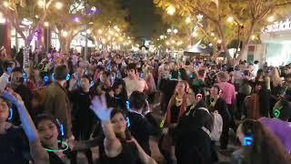 Third Street Promenade's 1st silent disco in Santa Monica!